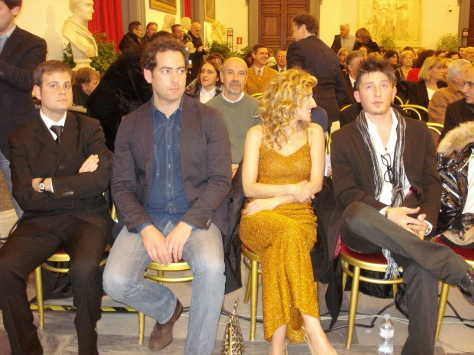Campidoglio 9 - 1 - 2013 - Sala della Promoteca, i vincitori del Premio Vincenzo Crocitti - 2013 - Marco Scarpellini, Fernando Cormick, Annalisa Favetti, Emiliano De Martino.